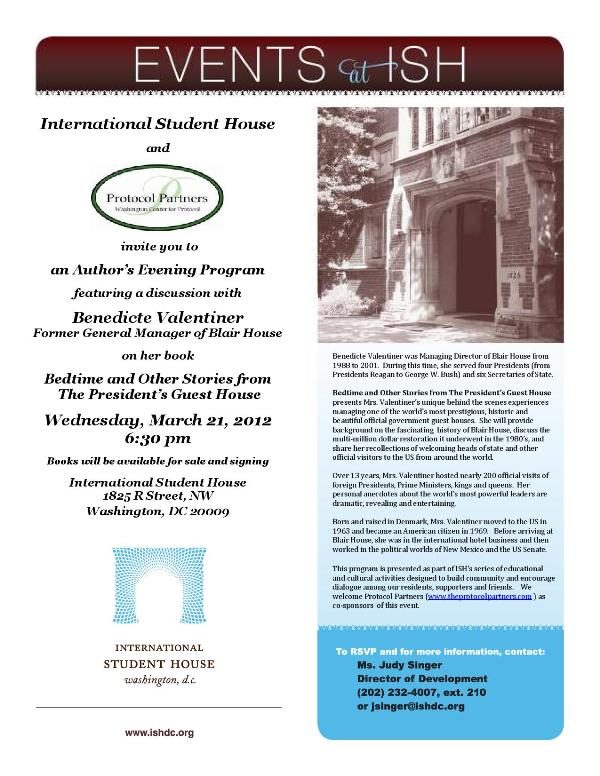 Author's Evening with Benedicte Valentiner - International