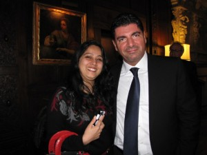 Bahaa Hariri and ISH Resident Neena Dominic
