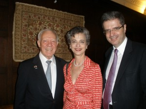 James Oberstar, Barbara Slavin and Ambassador Francois Delattre of France